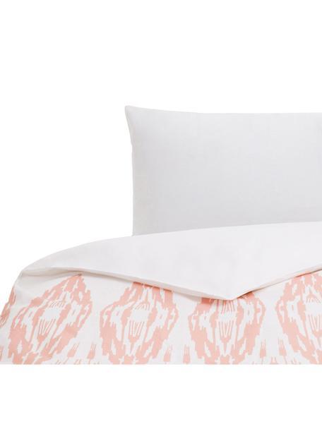 Parure copripiumino in cotone Raden, Cotone, Fronte: rosa, bianco Retro: bianco, 155 x 200 cm