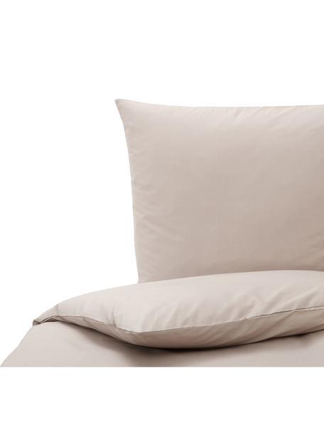 Baumwoll-Bettwäsche Weekend in Taupe, 100% Baumwolle  Fadendichte 145 TC, Standard Qualität  Bettwäsche aus Baumwolle fühlt sich auf der Haut angenehm weich an, nimmt Feuchtigkeit gut auf und eignet sich für Allergiker., Taupe, 135 x 200 cm + 1 Kissen 80 x 80 cm