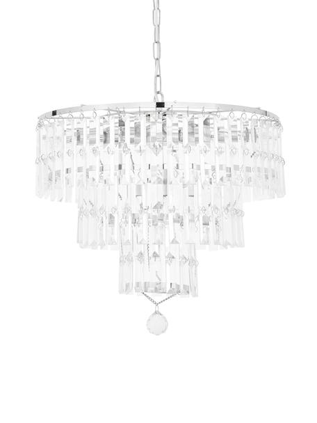 Lámpara de araña Empire, Adornos: vidrio, Cromo, transparente, Ø 48 x Al 43 cm