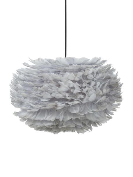 Lampa wisząca z piór EOS, Jasnoszary, Ø 45 x W 30 cm