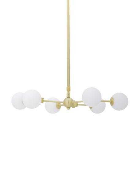 Lámpara de techogrande Aurelia, Estructura: metal latón, Anclaje: metal latón, Blanco, latón, Ø 61 x Al 78 cm