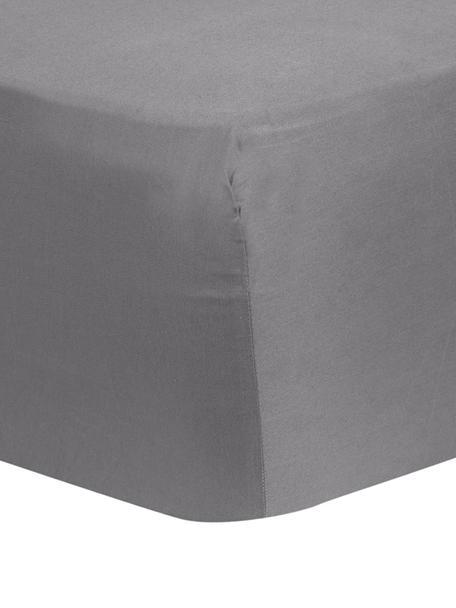 Sábana bajera de satén Comfort, Gris oscuro, Cama 90 cm (90 x 200 cm)