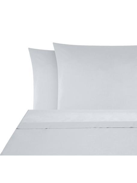 Set lenzuola in raso di cotone Comfort, Tessuto: raso Densità del filo 250, Grigio chiaro, 180 x 300 cm