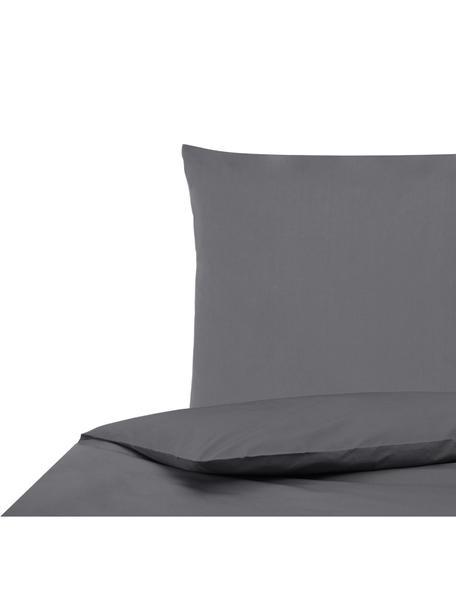 Parure copripiumino in percalle Elsie, Tessuto: percalle Densità del filo, Grigio scuro, 155 x 200 cm