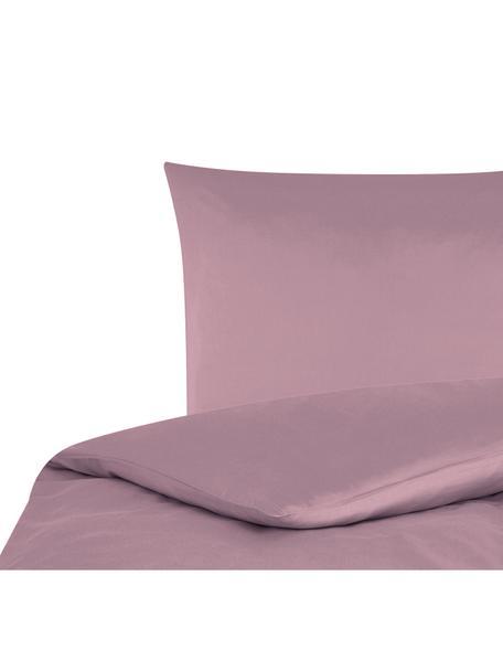 Katoensatijnen dekbedovertrek Comfort, Weeftechniek: satijn, licht glanzend, Mauve, 140 x 200 cm