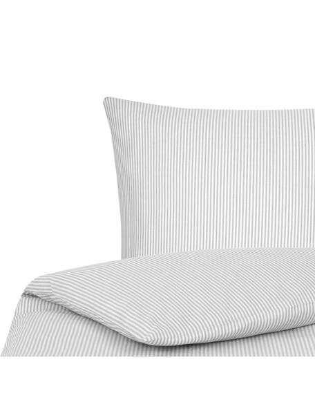 Funda nórdica de tejido renforcé Ellie, Blanco, gris, Cama 90 cm (150 x 200 cm)