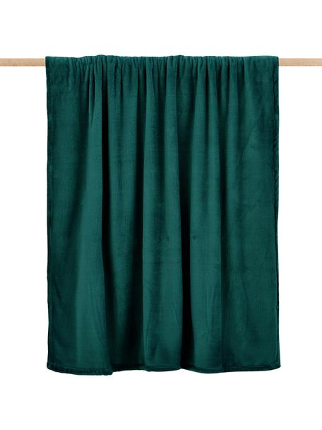 Manta de tela polar Doudou, 100%poliéster, Verde, An 125 x L 160 cm
