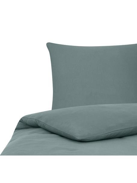 Flanell-Bettwäsche Biba in Grün, Webart: Flanell Flanell ist ein k, Grün, 135 x 200 cm + 1 Kissen 80 x 80 cm