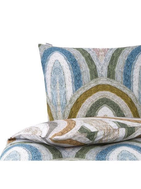 Baumwoll-Bettwäsche Rainbow Brights mit Regenbogenmuster, 100% Baumwolle  Fadendichte 144 TC, Standard Qualität  Bettwäsche aus Baumwolle fühlt sich auf der Haut angenehm weich an, nimmt Feuchtigkeit gut auf und eignet sich für Allergiker, Mehrfarbig, 135 x 200 cm + 1 Kissen 80 x 80 cm
