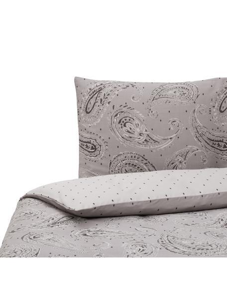 Dubbelzijdig katoensatijnen dekbedovertrek Dolly, Weeftechniek: satijn, Beige, 140 x 220 cm