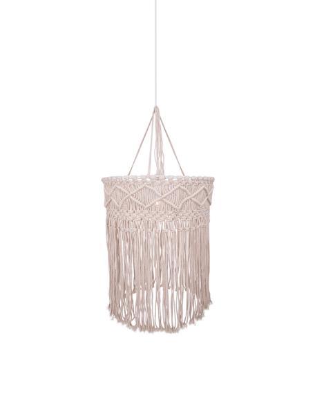 Lámpara de techo de diseño Havanna, Pantalla: algodón, Cable: plástico, Blanco, beige, Ø 40 x Al 50 cm