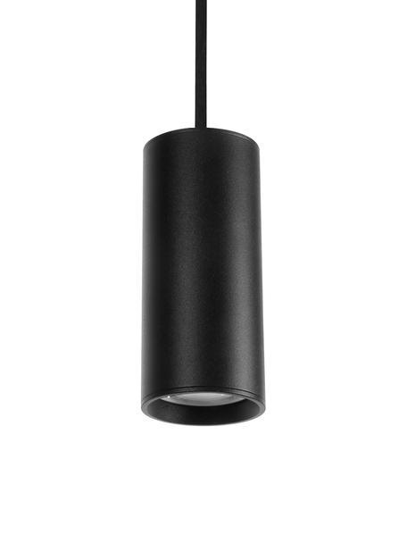 Kleine Moderne Pendelleuchte Aila, Lampenschirm: Aluminium, beschichtet, Baldachin: Aluminium, beschichtet, Schwarz, Ø 6 x H 120 cm