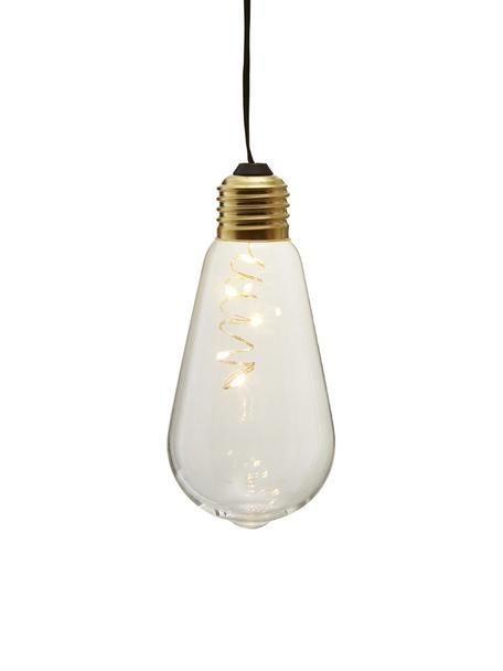 LED-Decoratieve lampen Glow, 2 stuks, Lampenkap: glas, Fitting: gecoat metaal, Transparant, Ø 6 x H 13 cm