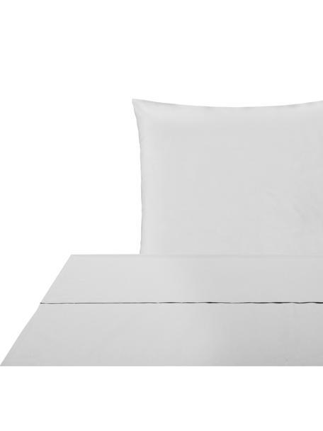 Set lenzuola in percalle Elsie, Tessuto: percalle Densità del filo, Grigio chiaro, 150 x 300 cm
