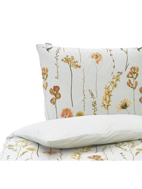 Baumwoll-Bettwäsche Outside mit Blümchenmotiv, 100% Baumwolle  Fadendichte 144 TC, Standard Qualität  Bettwäsche aus Baumwolle fühlt sich auf der Haut angenehm weich an, nimmt Feuchtigkeit gut auf und eignet sich für Allergiker, Grün, Mehrfarbig, 135 x 200 cm + 1 Kissen 80 x 80 cm