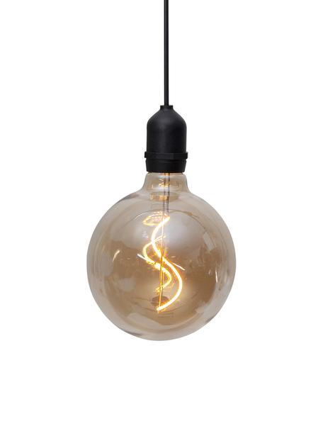 LED-Außenleuchte Bowl, Lampenschirm: Glas, Bernsteinfarben, transparent, Schwarz, Ø 13 x H 18 cm
