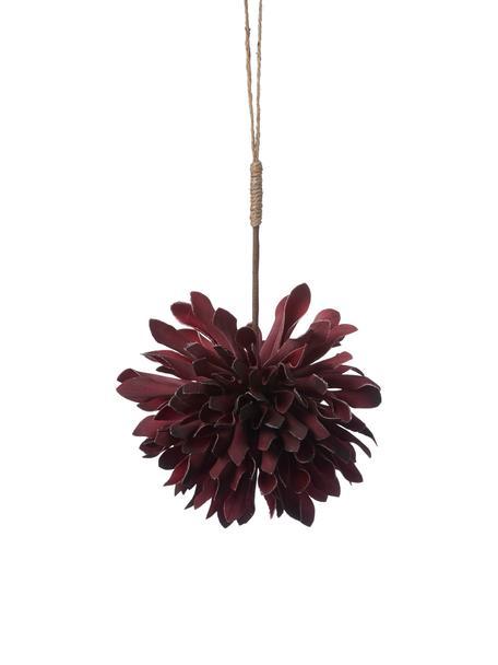 Baumanhänger Florisa, 2 Stück, Dunkelrot, Ø 10 x H 14 cm