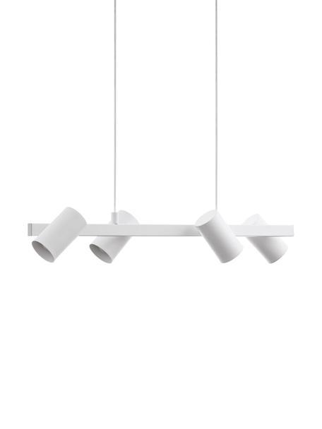 Moderne Pendelleuchte Gatuela, Lampenschirm: Metall, lackiert, Baldachin: Metall, lackiert, Weiß, 76 x 110 cm