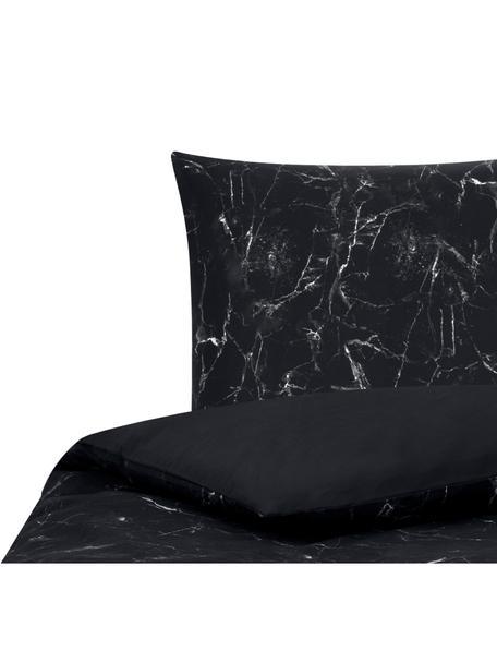 Funda nórdica doble cara Malin, Negro, blanco, Cama 90 cm (150 x 220 cm)
