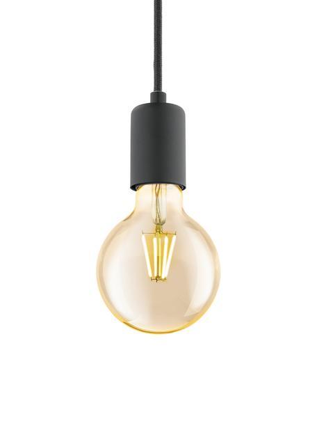 Lampada a sospensione Trey, Baldacchino: metallo verniciato a polv, Nero opaco, Ø 10 x Alt. 8 cm