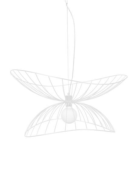 Lámpara de techo de diseño Ray, Metal recubierto, Blanco, Ø 70 x Al 36 cm