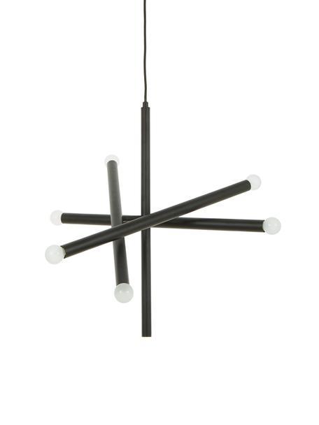 Pendelleuchte Sticks, Baldachin: Metall, pulverbeschichtet, Vermessingt, B 60 cm