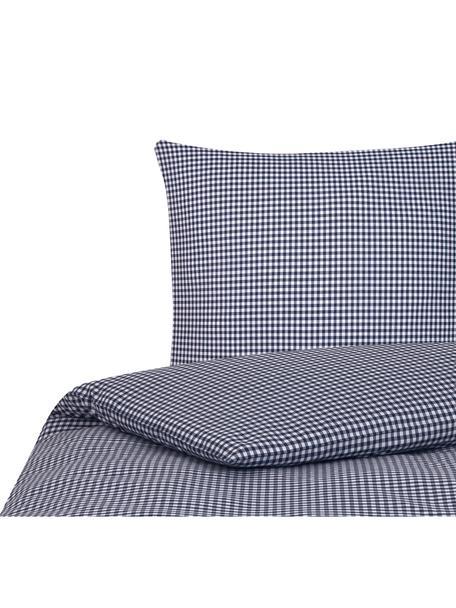 Katoenen dekbedovertrek Scotty, Katoen, Blauw/wit, 140 x 200 cm
