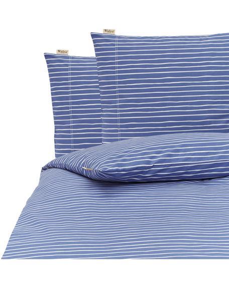 Renforcé dekbedovertrek No way out, Weeftechniek: renforcé, Blauw, wit, 200 x 220 cm