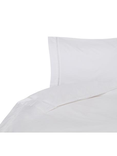 Funda nórdica con bordado de vainica Ajour, Algodón El algodón da una sensación agradable y suave en la piel, absorbe bien la humedad y es adecuado para personas alérgicas, Blanco, Cama 90 cm (160 x 220 cm)