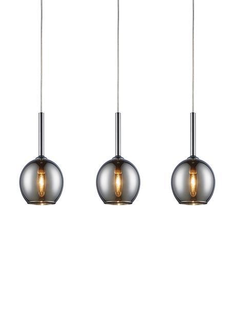 Pendelleuchte Monic aus Glas, Lampenschirm: Glas, verchromt, Baldachin: Metall, verchromt, Chrom, 65 x 15 cm