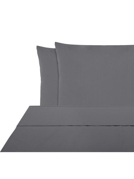 Set lenzuola in percalle Elsie, Tessuto: percalle Densità del filo, Grigio scuro, 240 x 300 cm