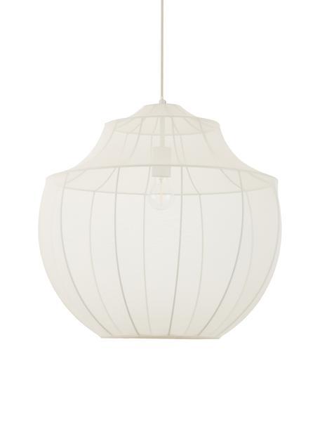 Lámpara de techo Balloon, Anclaje: metal con pintura en polv, Pantalla: tela, Cable: cubierto en tela, Crema, Ø 55 x Al 52 cm