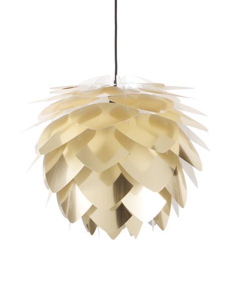 Lámpara de techo Silvia, set para montar, Pantalla: polipropileno, Cable: cubierto en tela, Latón, negro, Ø 50 x Al 41 cm