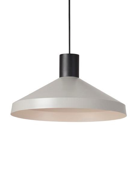 Hanglamp Kombo, Lampenkap: gecoat metaal, Grijs, zwart, Ø 40 x H 21 cm