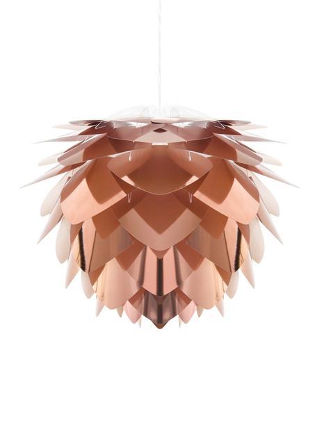Hanglamp Silvia, bouwpakket, Polypropyleen, Koperkleurig, wit, Ø 32 x H 25 cm