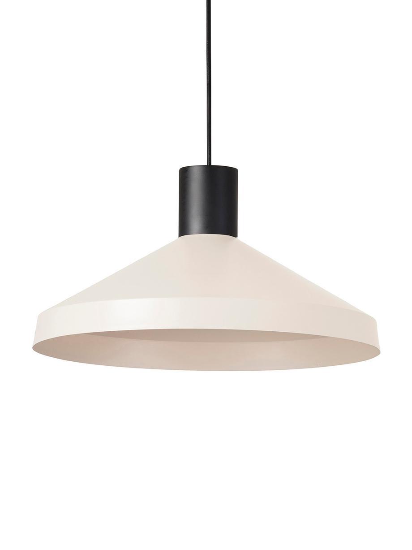 Lámpara de techo Kombo, estilo escandinavo, Pantalla: metal recubierto, Cable: plástico, Beige claro, negro, Ø 40 x Al 21 cm