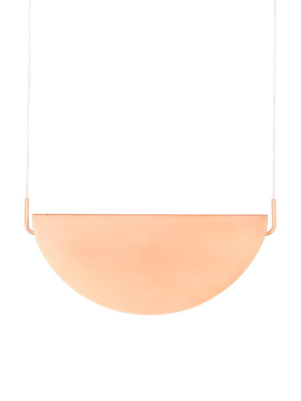 Design LED-Pendelleuchte Rani aus Glas, Lampenschirm: Glas, Baldachin: Metall, beschichtet, Rosa, 74 x 160 cm