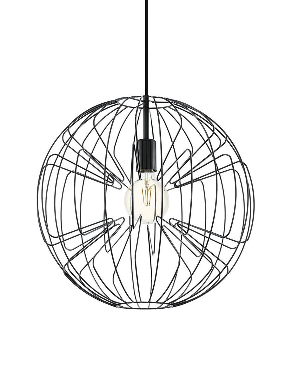 Lampa wisząca Okinzuri, Czarny, Ø 45 cm