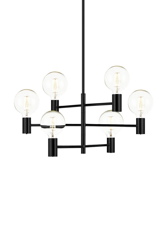Lámpara de techo grande Capital, Acero recubierto, Negro, Ø 63 cm