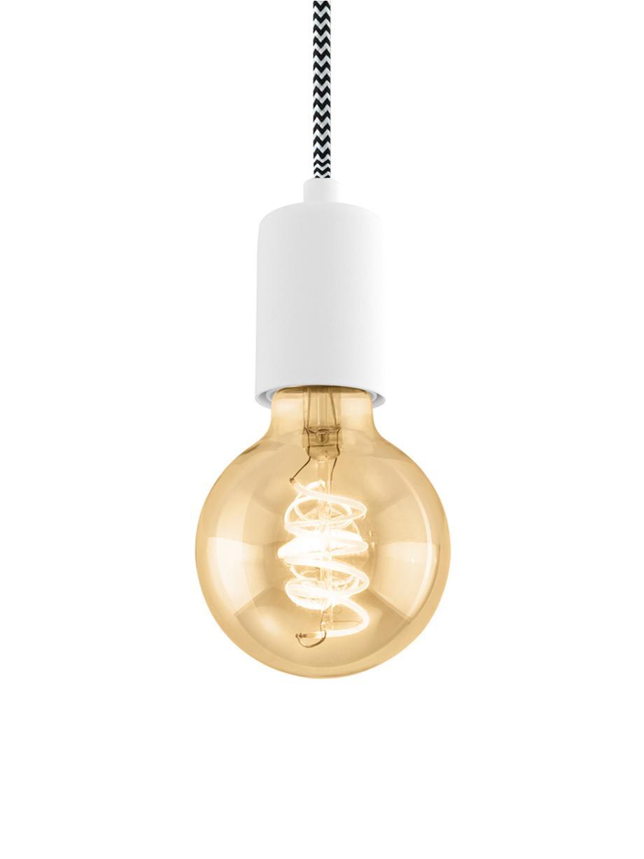 Kleine hanglamp Trey, Baldakijn: gepoedercoat metaal, Fitting: gepoedercoat metaal, Mat wit, Ø 10  x H 8 cm