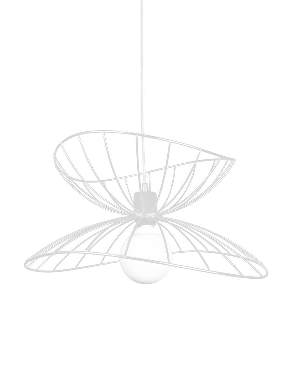 Lampa wisząca Ray, Metal powlekany, Biały, Ø 45 x W 25 cm
