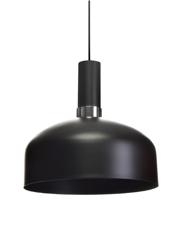 Lampada a sospensione in metallo Malmo, Paralume: metallo rivestito, Baldacchino: metallo rivestito, Nero, cromo, Ø 30 cm
