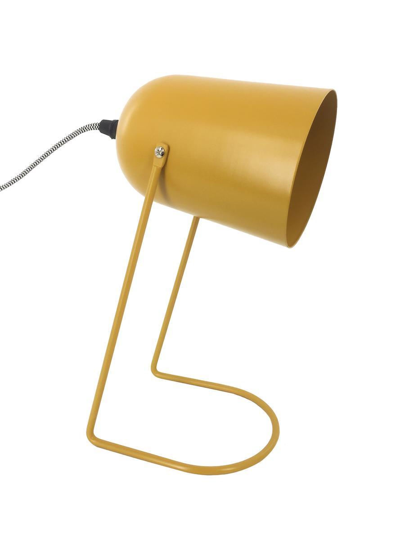 Nachtlampje Enchant, Lampenkap: gecoat metaal, Lampvoet: gecoat metaal, Okergeel, Ø 18 x H 30 cm