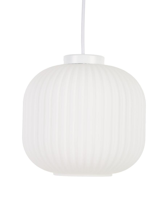 Lampada a sospensione in vetro Geneva, Paralume: vetro, Bianco, Ø 21 x Alt. 19 cm