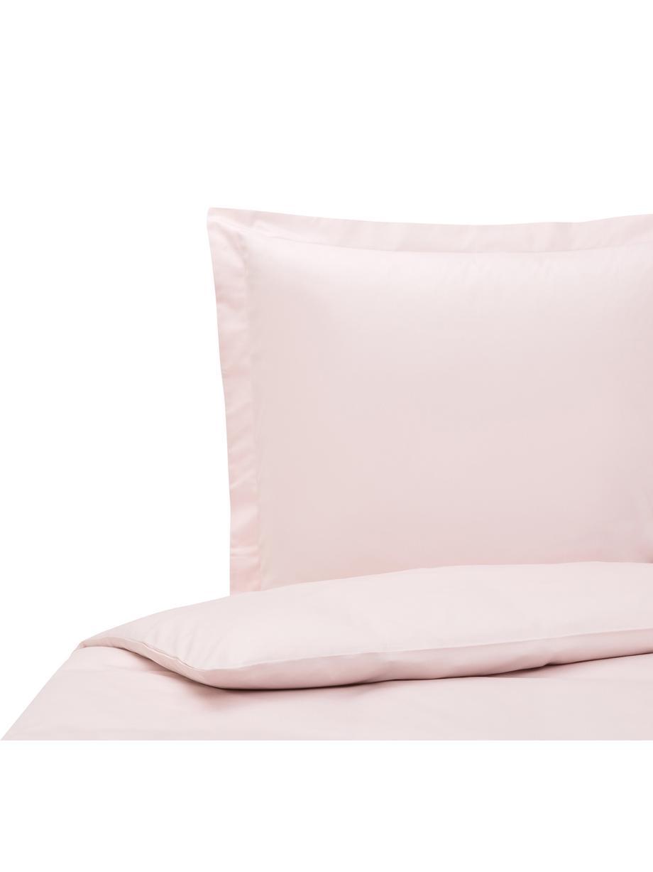 Baumwollsatin-Bettwäsche Premium in Rosa mit Stehsaum, Webart: Satin Fadendichte 400 TC,, Rosa, 135 x 200 cm + 1 Kissen 80 x 80 cm