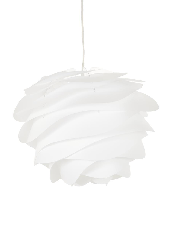 Pendelleuchte Carmina, Bausatz, Lampenschirm: Polypropylen, Baldachin: Kunststoff, Weiss, Ø 48 x H 36 cm