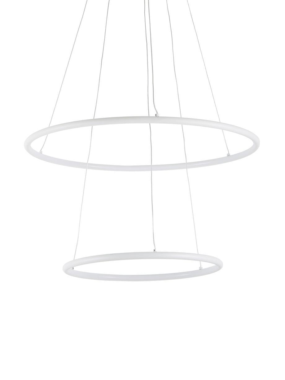 Duża lampa wisząca LED Orion, Biały, Ø 60 cm x W 90 cm