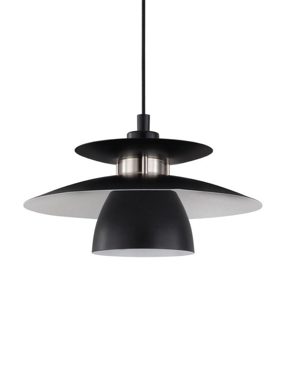 Lampada a sospensione Brenda, Paralume: metallo verniciato, Baldacchino: metallo verniciato, Nero, Ø 32 x Alt. 110 cm