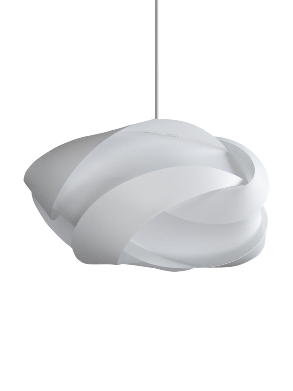 Grosse Pendelleuchte Ribbon, Bausatz, Lampenschirm: Polypropylen, Polycarbona, Baldachin: Kunststoff, Weiss, Ø 60 x H 28 cm
