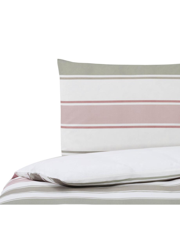 Dubbelzijdig dekbedovertrek Cappo, Katoen, Bovenzijde: multicolour, wit. Onderzijde: wit, 140 x 200 cm